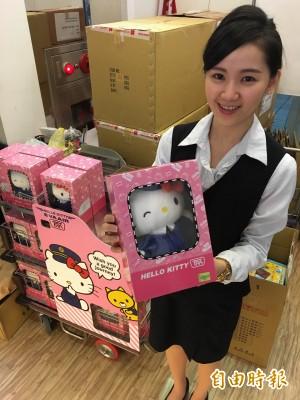 台鐵 Kitty 列車長玩偶掀排隊潮