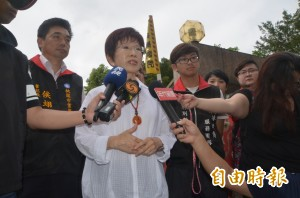 洪秀柱:讓台灣社會更祥和  政黨負責人不能只是講講