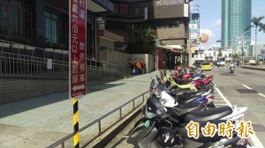 機車退出人行道、騎樓 台南火車站周邊請停合法車位