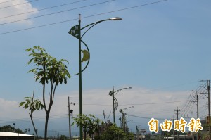 莿桐創造新特色 四大農產意象上路燈
