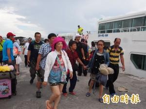 強颱逼近 綠島5艘交通船齊發疏運旅客