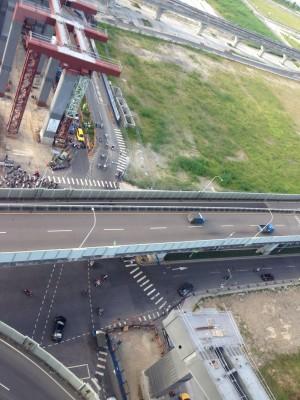 新北捷運環狀線將吊鋼梁 台1線高架、平面道封閉