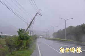 尼伯特登陸 屏東停電已超過5萬戶