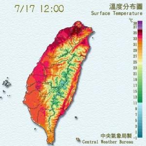 各地晴朗炎熱 台北中午飆38.2度高溫