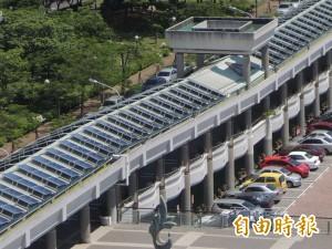 台南永華市政中心 屋頂有「發光巨龍」