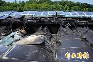 太陽能板竟不耐高溫自燃 北水處:製造商在這…
