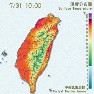 中午前就好熱 新竹已達36度