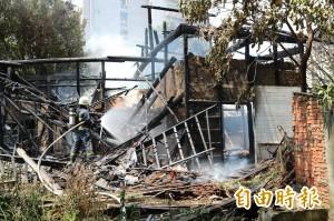 北市日式歷史建物大火燒毀 頹圮建物沒人管