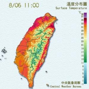 北風過山沉降 宜蘭高溫已達36度