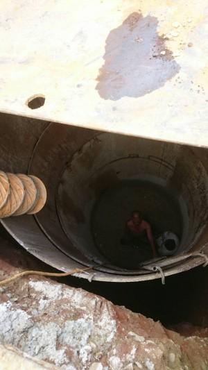 下水道工程施工不慎 外包工人墜5米涵洞
