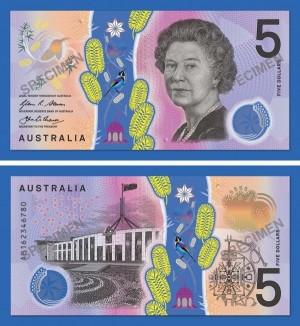 澳洲5元新鈔上路 加入視障者辨識功能