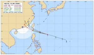 莫蘭蒂路徑南修 中心登陸台灣機率降低