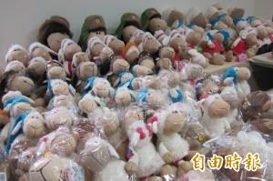 觀光區旁賣盜版綿羊玩偶 侵權市值上百萬