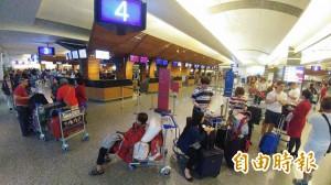 颱風亂班機 桃機啟動疏運 29日消化完畢