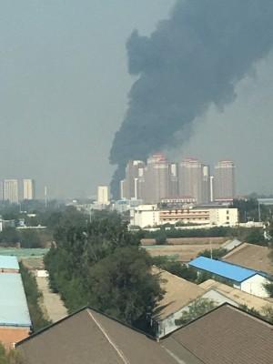 中共解放軍「殲-10」戰機天津墜毀 飛行員跳傘