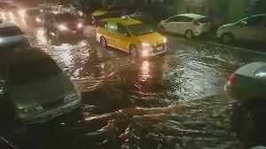 基隆時雨量破50毫米 市區多處積、淹水