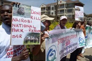 中國助肯亞建鐵路 300人抗議破壞環境