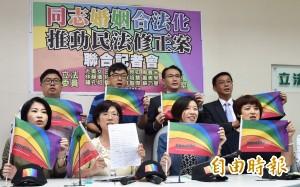 民進黨提修民法 三重點保障同志婚姻