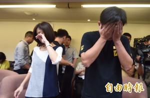 一例一休議事錄衝突中確認 黃國昌一度落淚