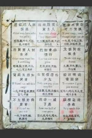 買以、勿倫脫? 150多年前清朝人這樣學英語..