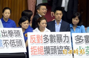 批民進黨強過「一例一休」 藍營預告明日癱瘓立院