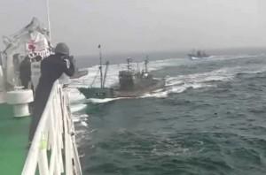機槍再出動!南韓海警掃射中國30艘漁船