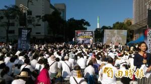 反同上萬群眾  立院抗議嗆尤美女