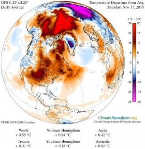 北極溫度多出20度 科學家:2016將成史上最熱年