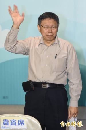 傳蘇煥智選北市長 柯文哲:參選是國民權利