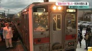 JR北海道增毛站95年歷史落幕 鐵道迷送行