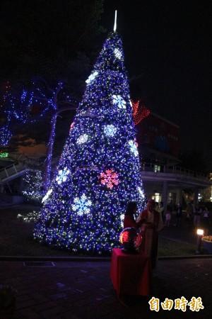 點亮希望點亮愛 雲林8米耶誕樹點燈