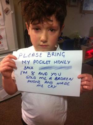 把零用錢還我!網購iPhone遭騙 英8歲童哭慘了