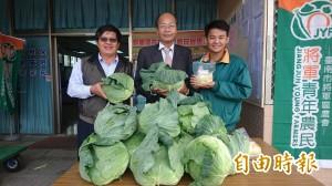 台南將軍青農揪甘心! 捐5000顆高麗菜做善事