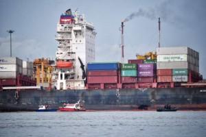 萬海貨櫃輪擦撞美國貨輪 現場漏油300噸