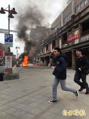 永樂市場好大的火?  安啦!年貨大街消防演習