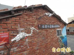 回收蚵殼與保特瓶藝術造街   展翅白鷺鷥吸睛