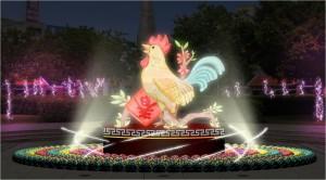 竹北文化公園2/3看花燈 「圓滿雞」小提燈亮相
