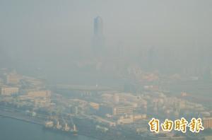 全台76監測站PM2.5濃度 高屏包辦了前3名