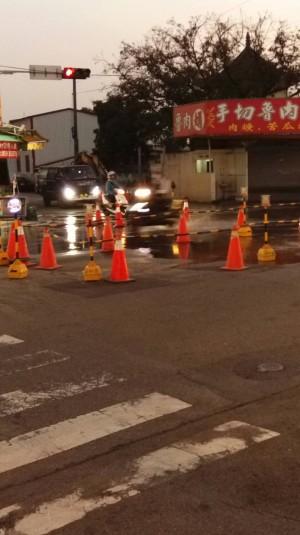 台水水管遭挖破 台中6萬戶今晚8點起停水