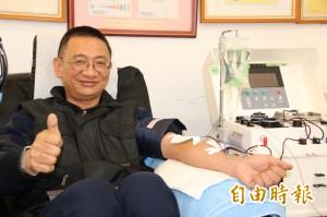 為感謝救命   技工29年捐血1205次