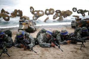 威懾北韓!美日韓首次舉行聯合反潛軍演