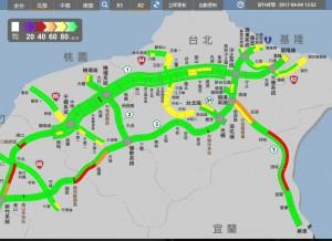 國道2點後湧車潮 國5從雪隧南口回堵6公里