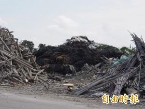 尼伯特風災農業廢材仍堆掩埋場 環保局:爭取經費做分類