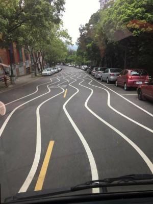彎彎曲曲馬路線看了頭暈 其實是為了「減速」?