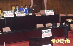 國民黨續占主席台 蘇嘉全:恐引人民反感