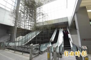 機捷通車2個月    台北車站「竹林瀑布」全枯死