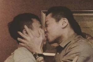 國際不再恐同日  林昶佐臉書貼兩男熱吻照