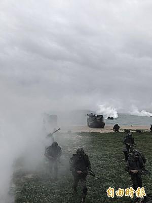 漢光33號演習主戰場山水沙灘 成觀光熱門景點