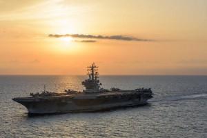 美軍雷根號抵日本海 將與卡爾文森號進行演訓