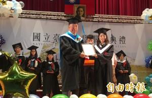 台東大學畢業典禮 前職棒球星王信民拿碩士